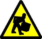 Lifting Hazard Icon